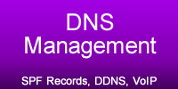 DNS Management, SPF Records, DDNS, VoIP