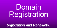 Domain Registrations and Renewals.